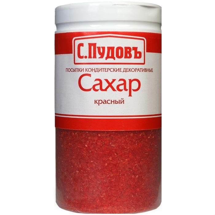 Посыпка сахар красный С.Пудовъ 65 г фото