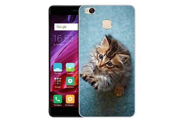 Чехол Gosso Cases для Xiaomi Redmi 4X «Котёнок на голубом»