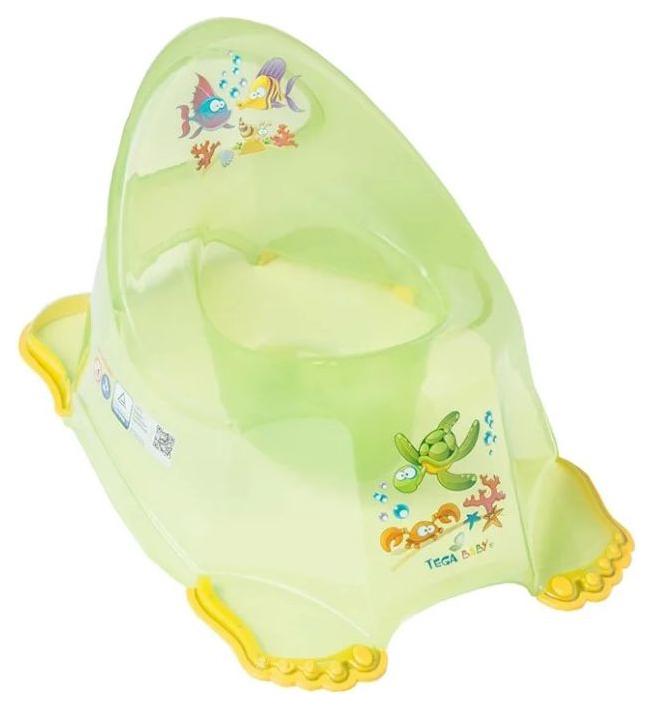 Купить ТЕГА Детский горшок антискользящий AQUA (АКВА) прозрачный зеленый AQ-007-116, Tega Baby, Горшки детские