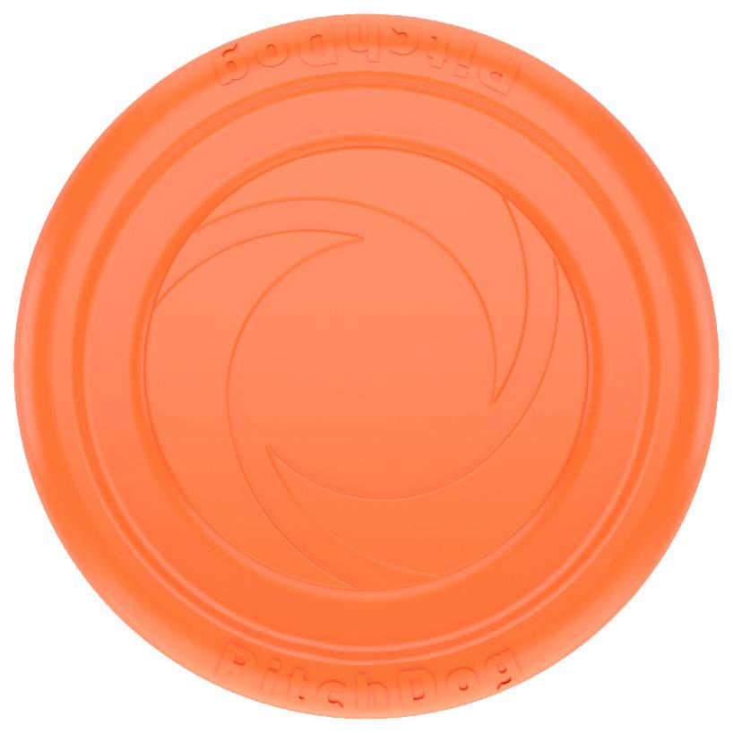 Апорт для собак PitchDog Летающая тарелка, оранжевая,