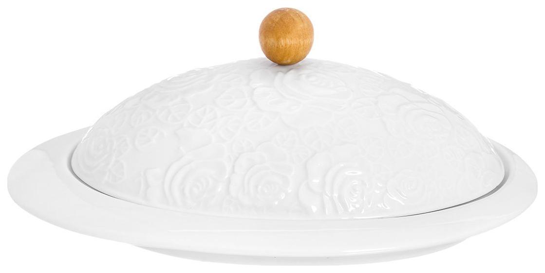 Масленка Elan Gallery Белые розы 860042