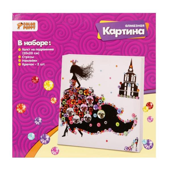 Набор для творчества Алмазная картина «Золушка», 20x20 см 95466 Color Puppy
