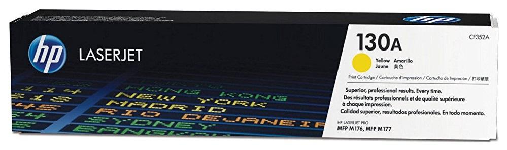 Картридж для лазерного принтера HP 130A LaserJet, желтый CF352A