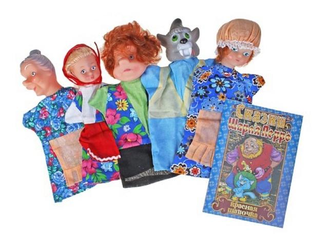 Игровой набор Русский Стиль Кукольный театр Красная шапочка 5перс 11065