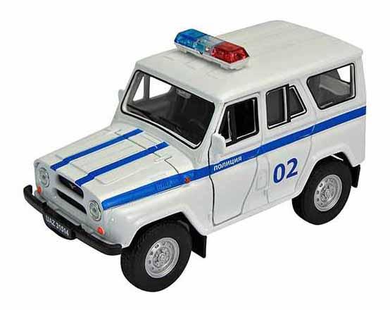 Машинка инерционная Welly 42380PB Модель машины Welly 1:34-39 УАЗ 31514 Полиция фото