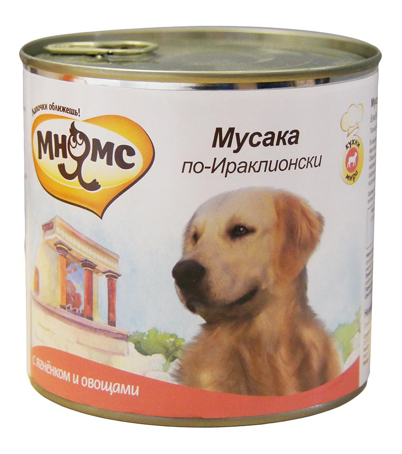 Консервы для собак Мнямс Мусака по-Ираклионски, ягненок с овощами, 6шт по 600г