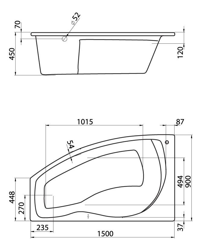 Комплект монтажный Santek Майорка 150х90см (1WH112431)
