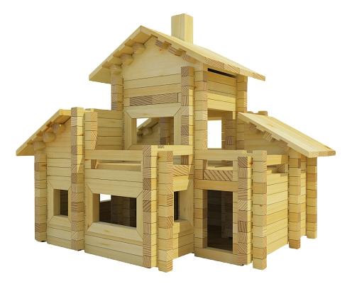 Купить Разборный домик №6, Конструктор Лесовичок Разборный домик 320 деталей, Деревянные конструкторы