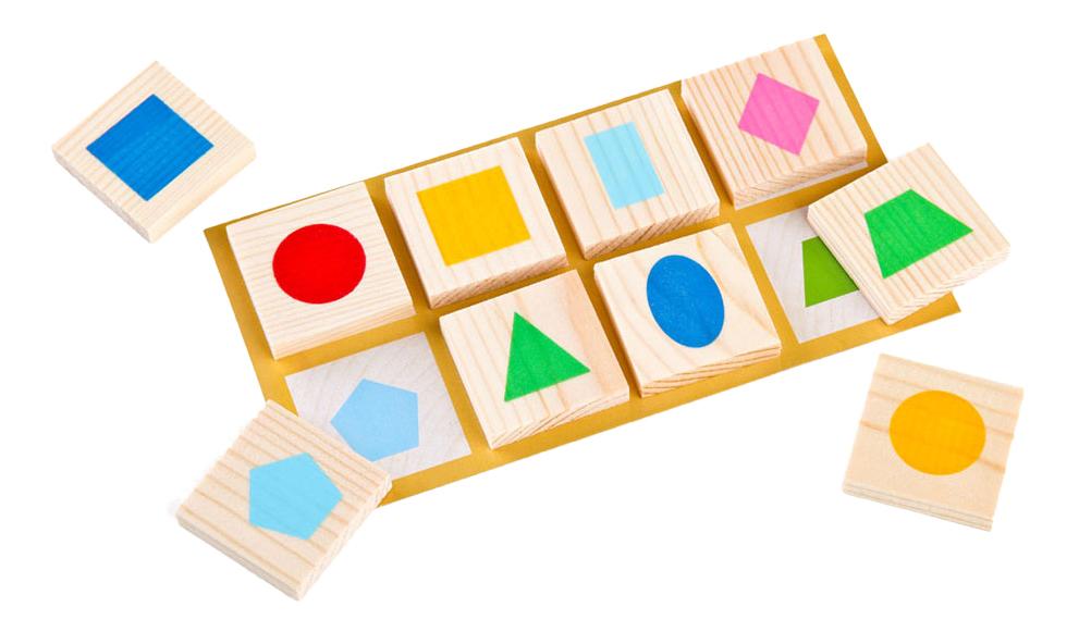 Семейная настольная игра Детское Лото Томик «Геометрические Фигуры», 48 Деталей