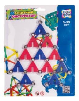 Купить Волшебное притяжение. Треугольники, Конструктор магнитный KriBly Boo Фигуры Треугольники 1, Магнитные конструкторы