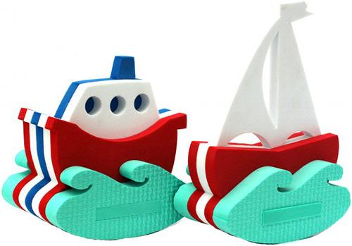 Набор для ванной EL'BASCOTOYS Кораблик + Парусник.