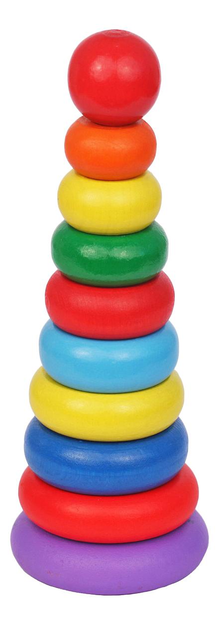 Купить Пирамидка Краснокамская игрушка Кольцевая новая, Краснокамская Игрушка, Пирамидки для детей