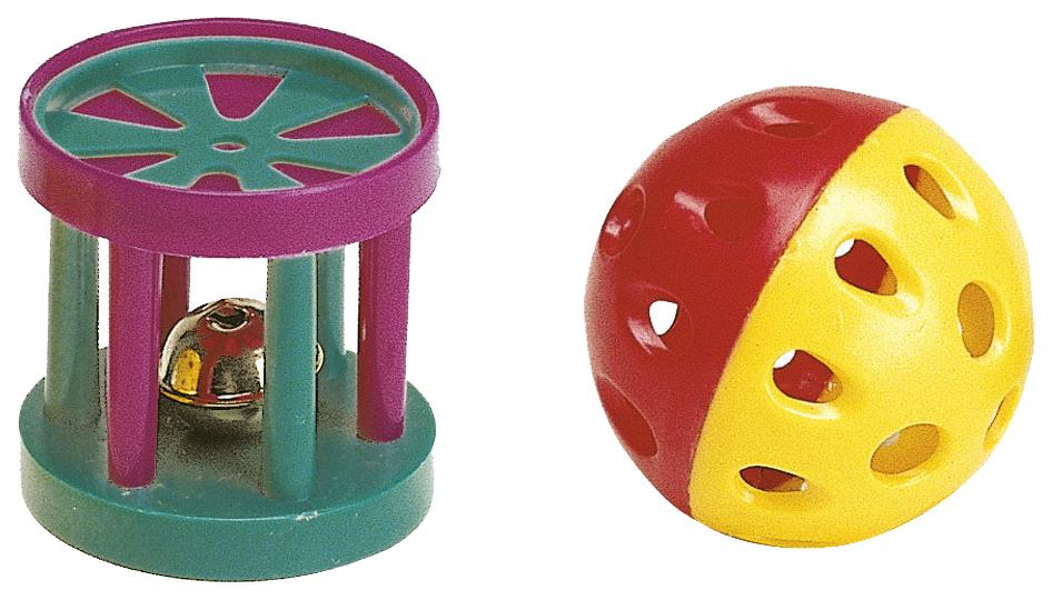 Мяч для кошек Ferplast, Пластик, с колокольчиком