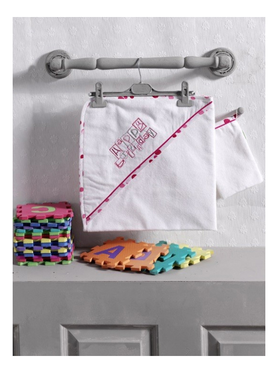 Купить Полотенце детское Kidboo Happy Birthday Pink 75*75 см,