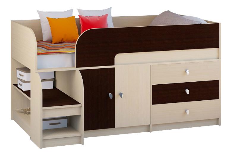 Кровать РВ-Мебель Астра 9/1 молочный дуб/венге фото