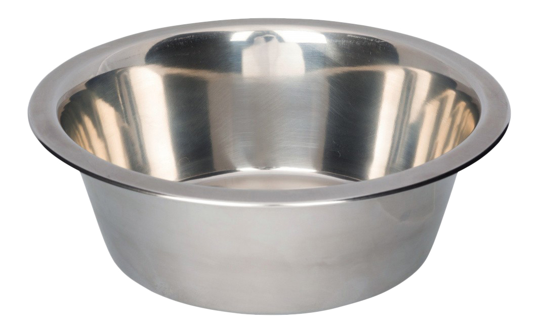 Одинарная миска для собак TRIXIE, сталь, серебристый,