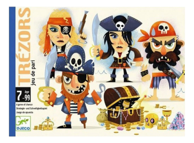 Купить Семейная настольная игра Djeco Сокровища, Семейные настольные игры