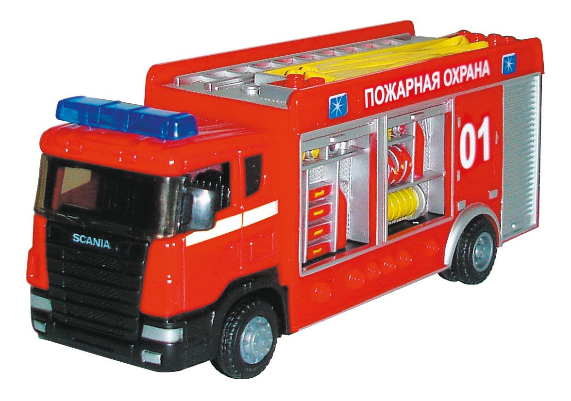 Купить Scania 'Пожарная охрана', 1:48, Машинка Scania Пожарная охрана 1:48 Autotime 34204,