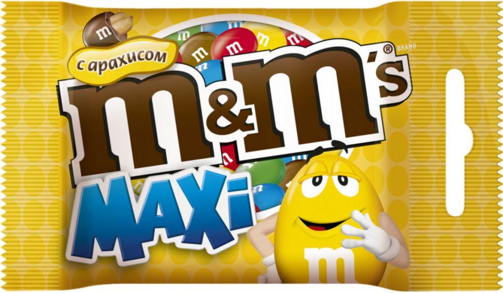 Драже M#and#M\'s maxi с арахисом и молочным  шоколадом 70 г
