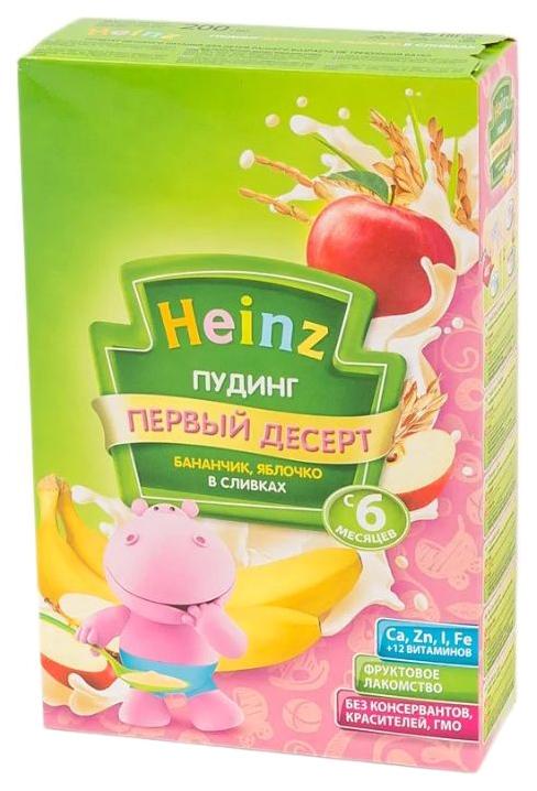 Каша молочная Heinz Пудинг молочный банан с яблоком и сливками с 6 мес. 200 г