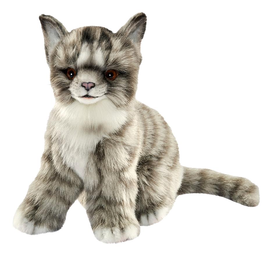 Купить Мягкая игрушка Hansa Котенок серый 19 см 7177, Мягкие игрушки животные