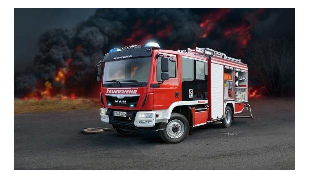 Купить Сборная модель Пожарная машина Hlf 20 Varus 4x4 Revell 07452R, Модели для сборки