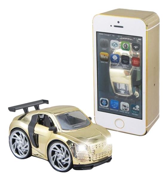 Купить Машина в коробк-смартфоне золотая Shenzhen Toys В62498, Игрушечные машинки