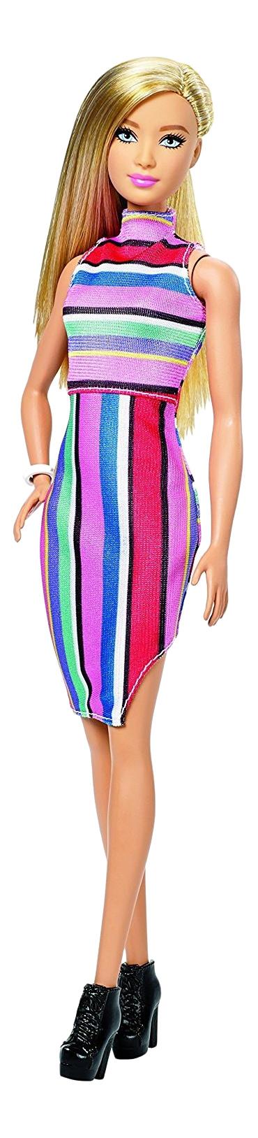Кукла Barbie Fashionistas в полосатом платье