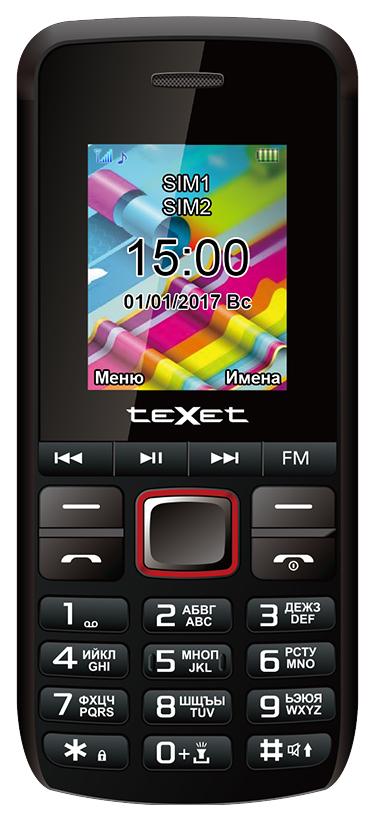 Мобильный телефон teXet TM 203 Black/Red