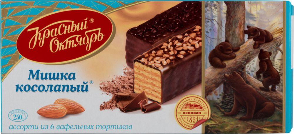 Торт вафельный Красный Октябрь мишка косолапый 250 г фото