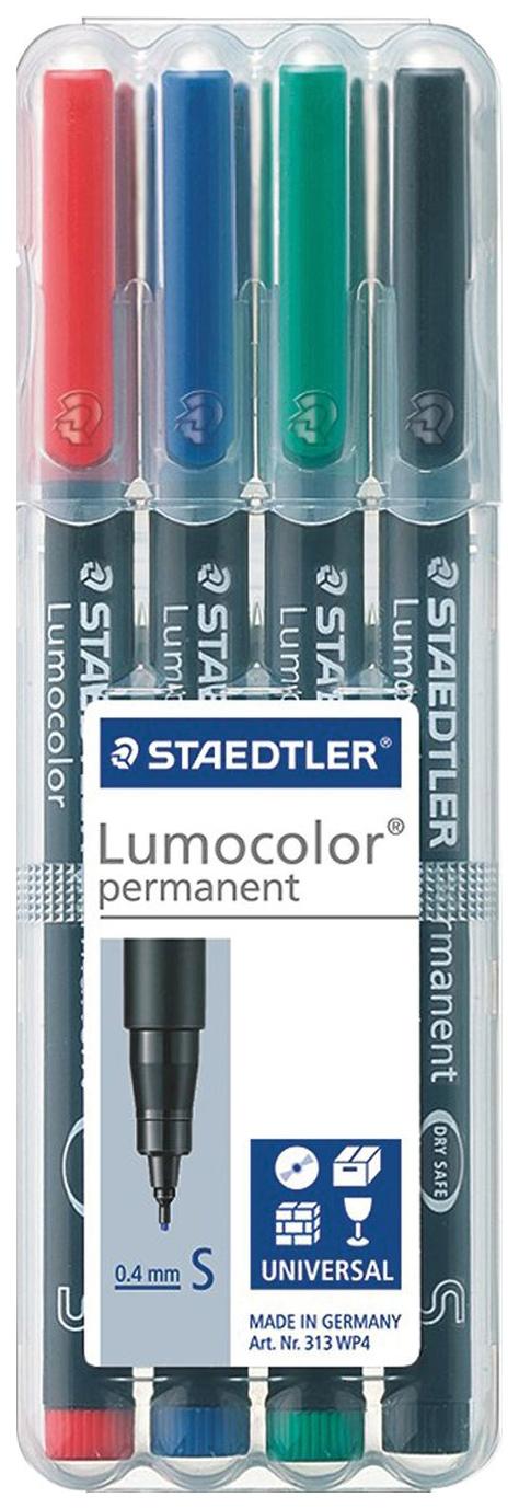 Набор маркеров перманентных Staedtler LumoColor 4 цвета