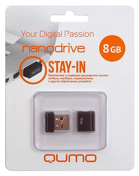 USB флешка QUMO Nano Black 16GB Black
