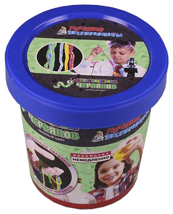 Купить Набор для исследования Qiddycome Делаем цветных червяков Зеленый, Наборы для опытов
