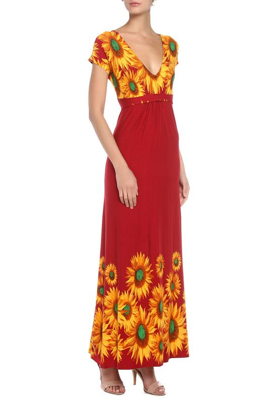 Платье женское МадаМ Т ПЛ3133/08 красное 46 RU фото