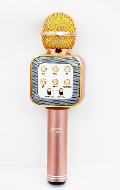 Беспроводной караоке-микрофон WS-1818 Pink