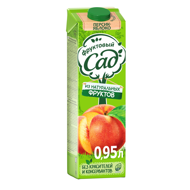 Нектар Фруктовый Сад яблоко-персик 0.95 л фото