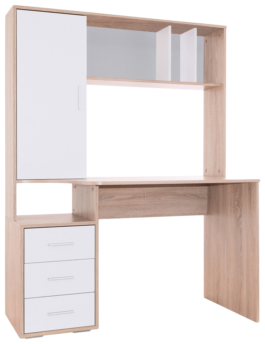 Компьютерный стол СОКОЛ КСТ-16 120x60x160, белый/дуб сонома