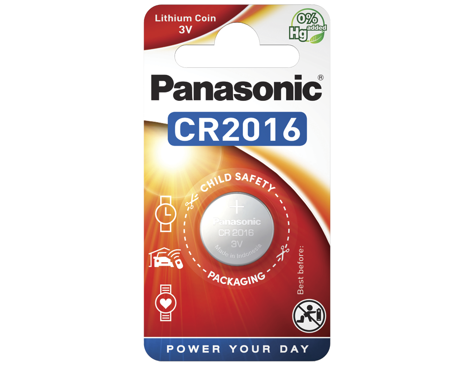 Батарейка Panasonic CR 2016EL/1B 1 шт
