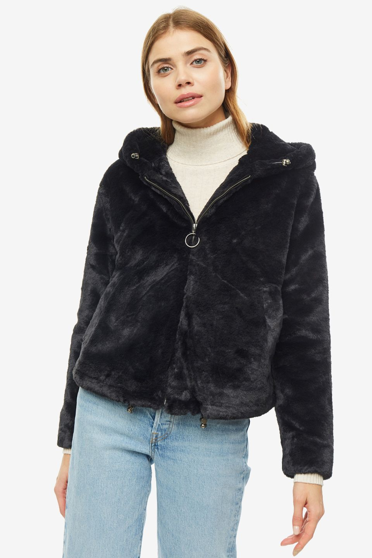 Шуба женская Pepe Jeans PL401712.594 черная XS фото