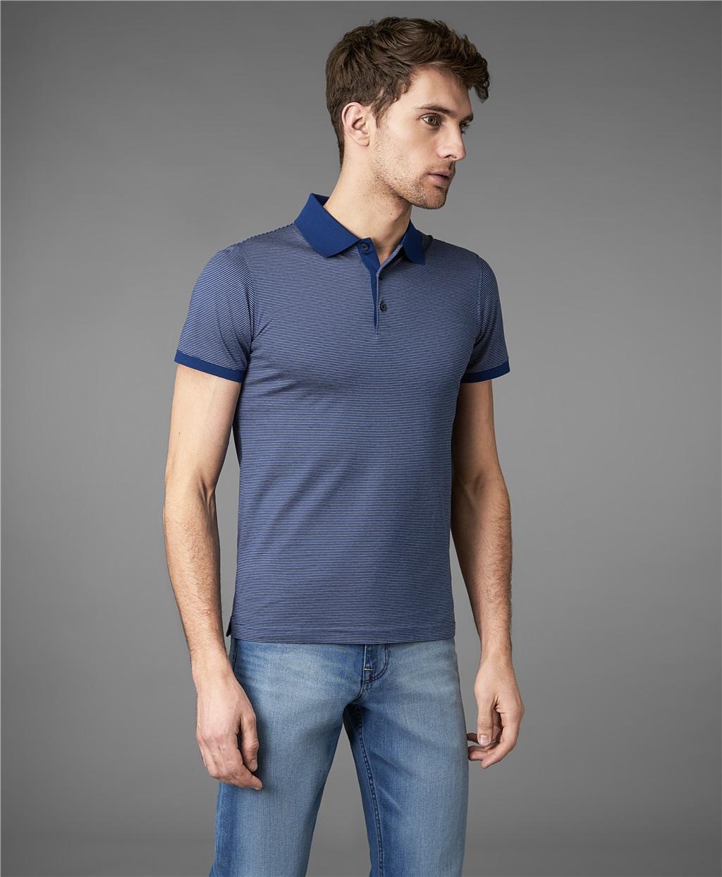 Рубашка мужская HENDERSON HPS-0274 синяя L фото