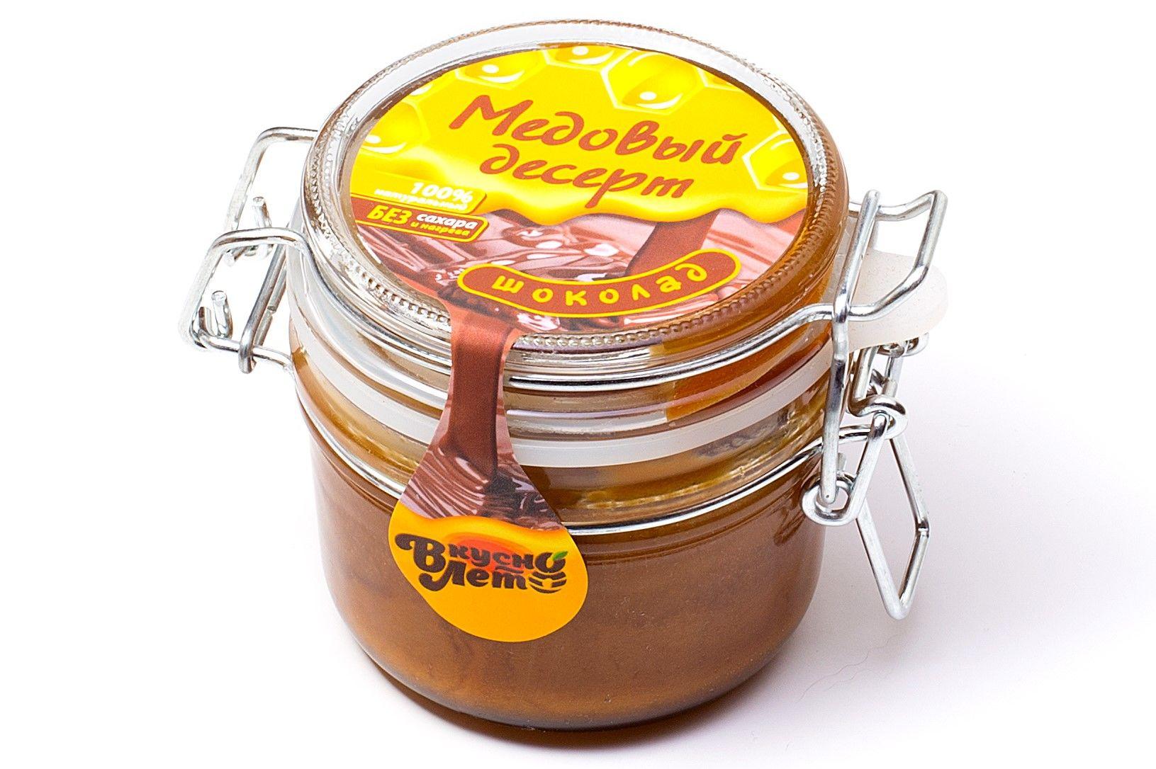 Крем-мед медовый шоколад с какао банка бугельная 220 г