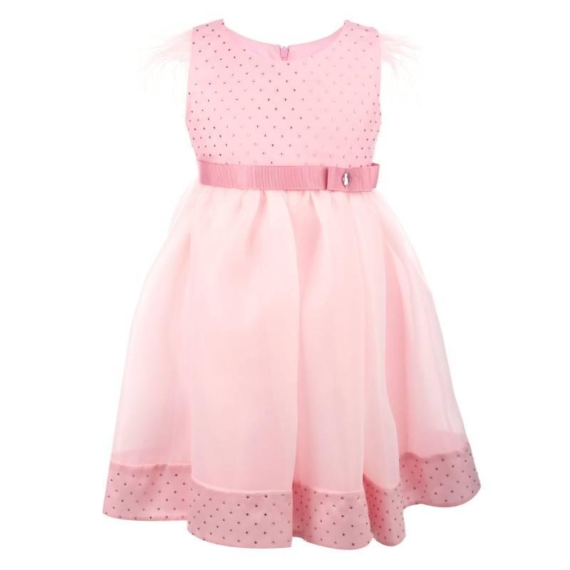 Купить 1567, Платье Созвездие лебедь UNONA D'ART, цв. розовый, 128 р-р, Платья для девочек