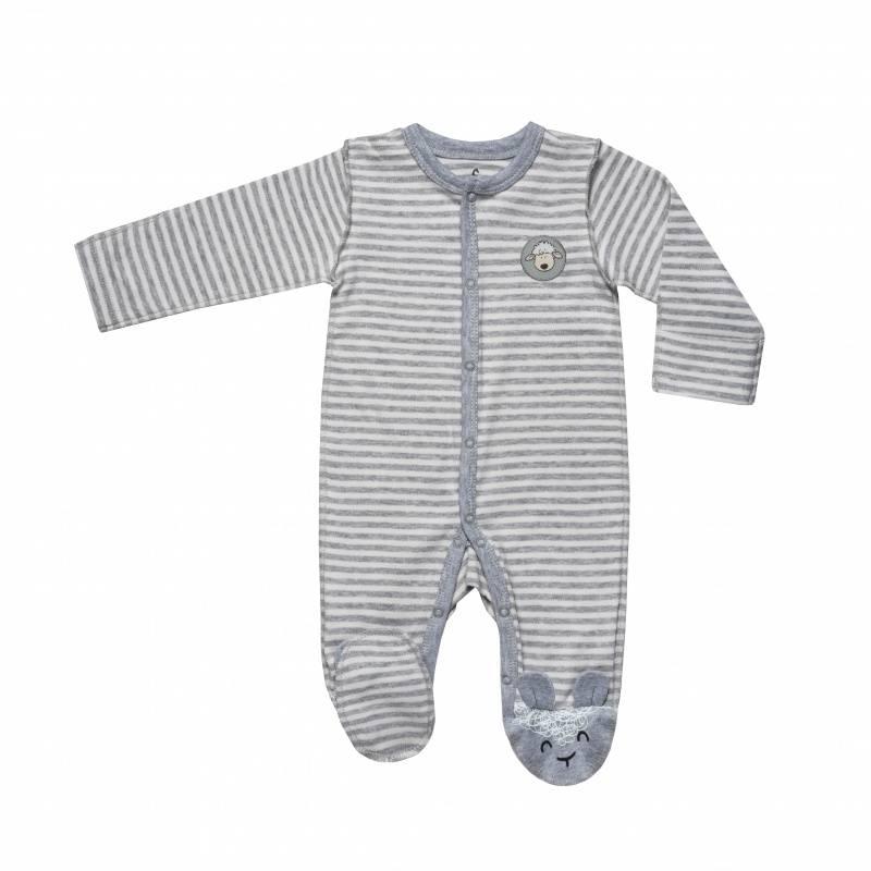 Купить DK-055, Комбинезон Diva Kids, цв. серый, 68 р-р, Трикотажные комбинезоны для новорожденных