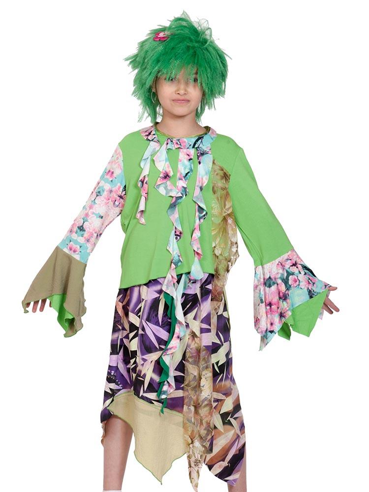 Карнавальный костюм Карнавалофф Кикимора, цв. разноцветный р.128