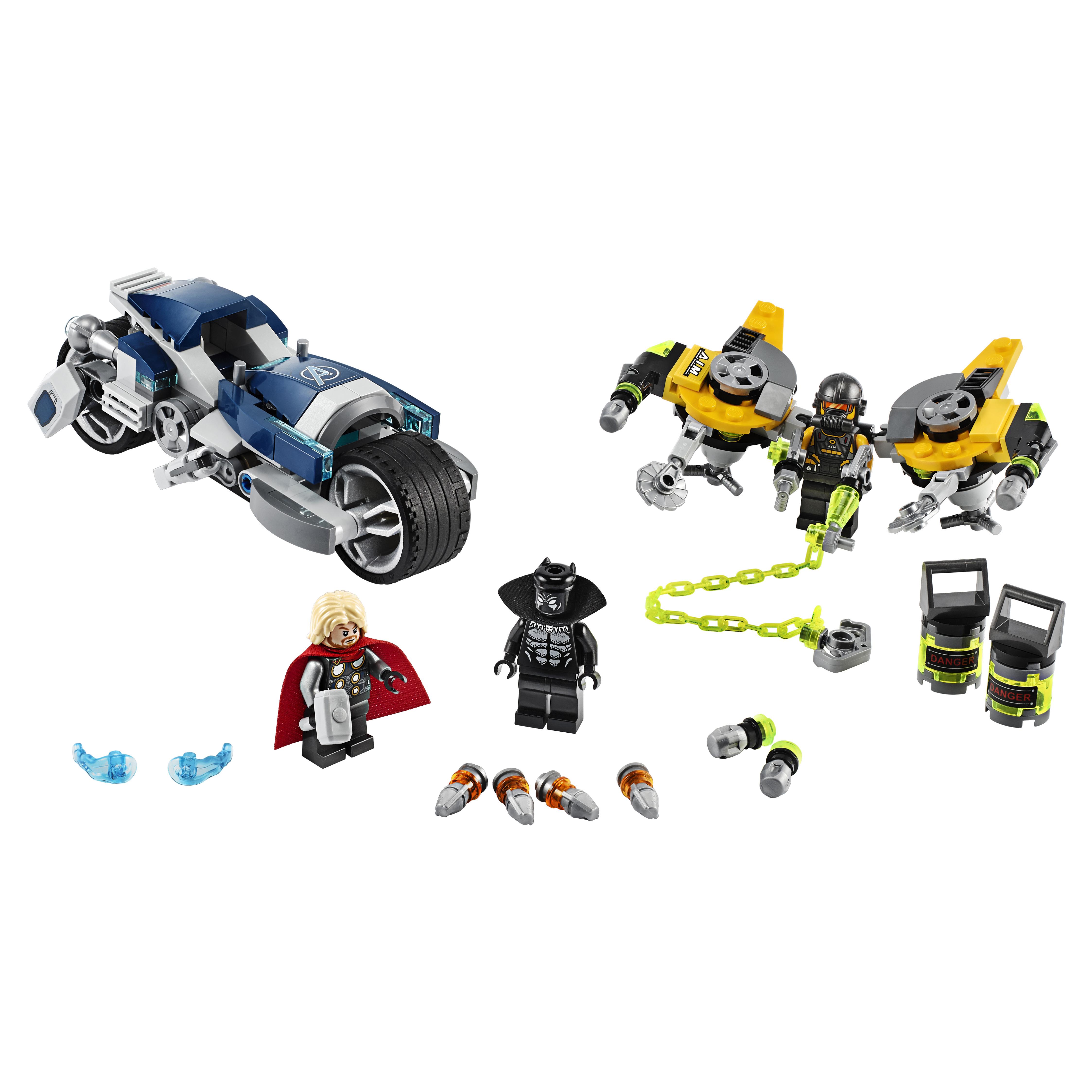 Купить Конструктор LEGO Marvel Avengers Movie 4 76142 Мстители: Атака на спортбайке, LEGO Super Heroes
