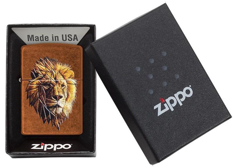 ZIPPO POLYGONAL LION