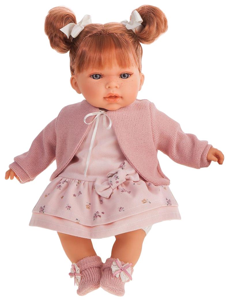 Купить Кукла озвученная Альма , в розовом, 37 см, Antonio Juan, Классические куклы
