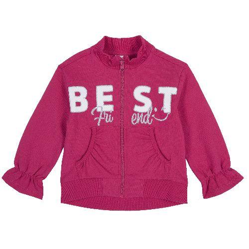 Купить 9096913, Толстовка Chicco для девочек р.86 цв.розовый, Кофточки, футболки для новорожденных