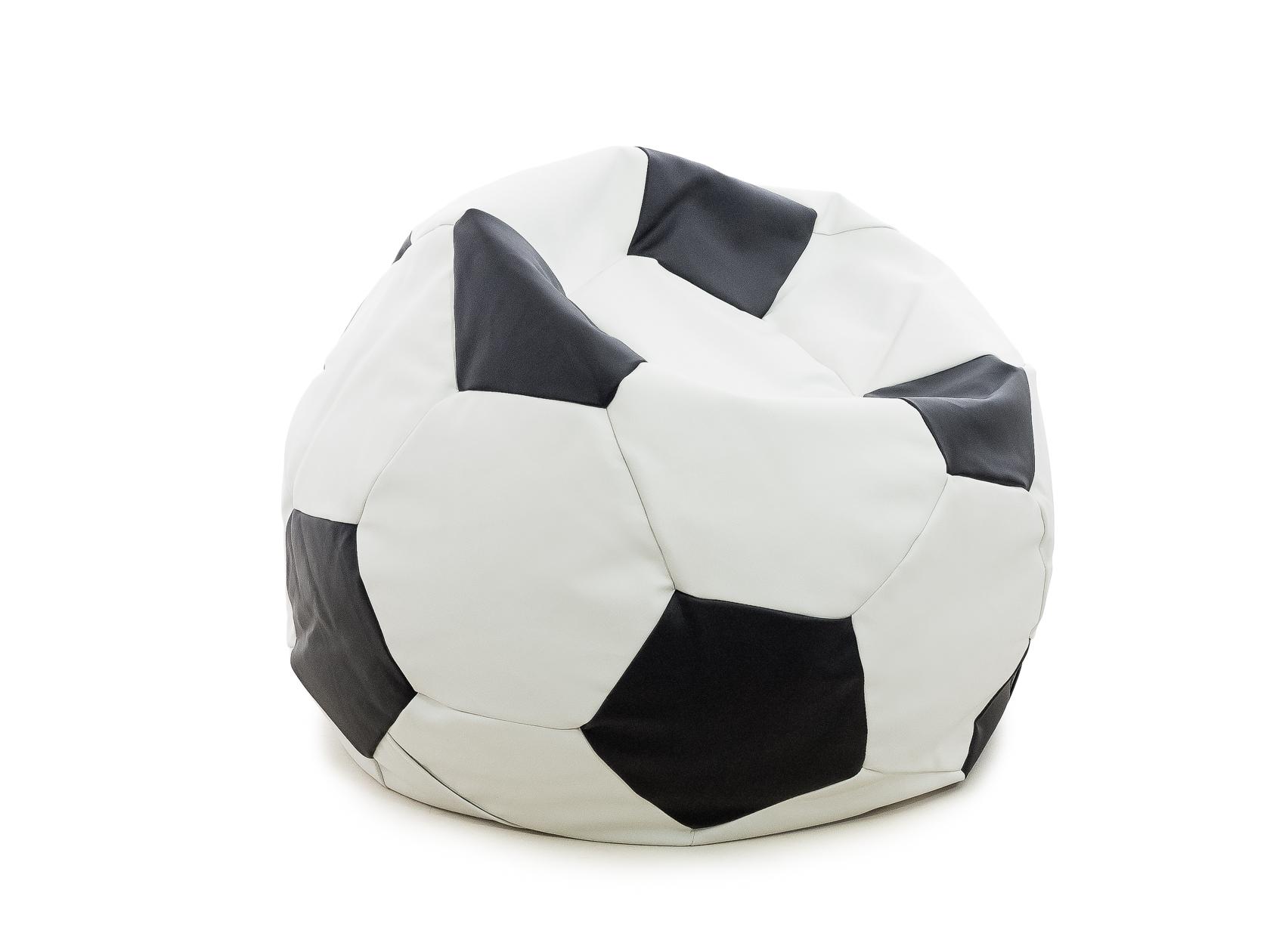 Кресло-мяч DreamBag Мяч, размер S, экокожа, белый; черный фото