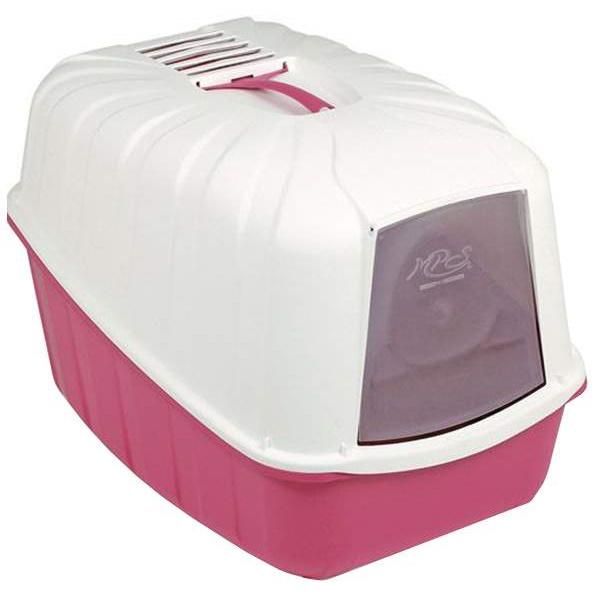 Туалет для кошек MPS Komoda, прямоугольный, красный, белый, 54х39х40 см